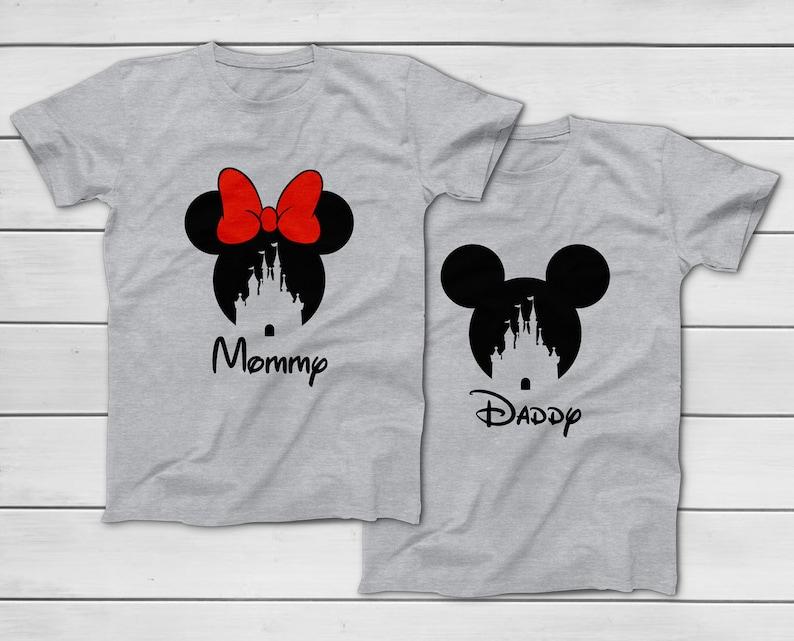 0500e2a16 CUSTOM Disney 2019 Mickey Minnie Castle T-Shirt Disney Group | Etsy