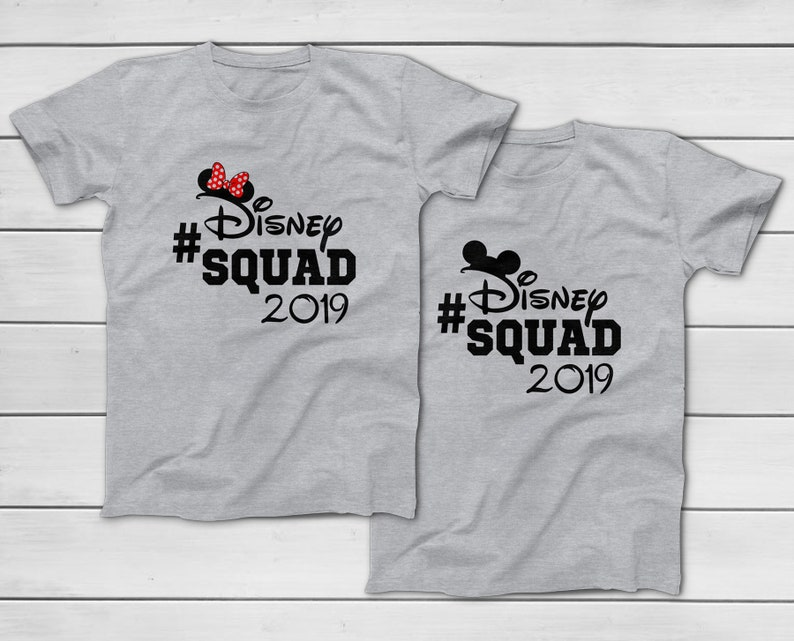35e72c21f782be Disney Squad 2019 Walt Disney World Family Vacation T-Shirts | Etsy
