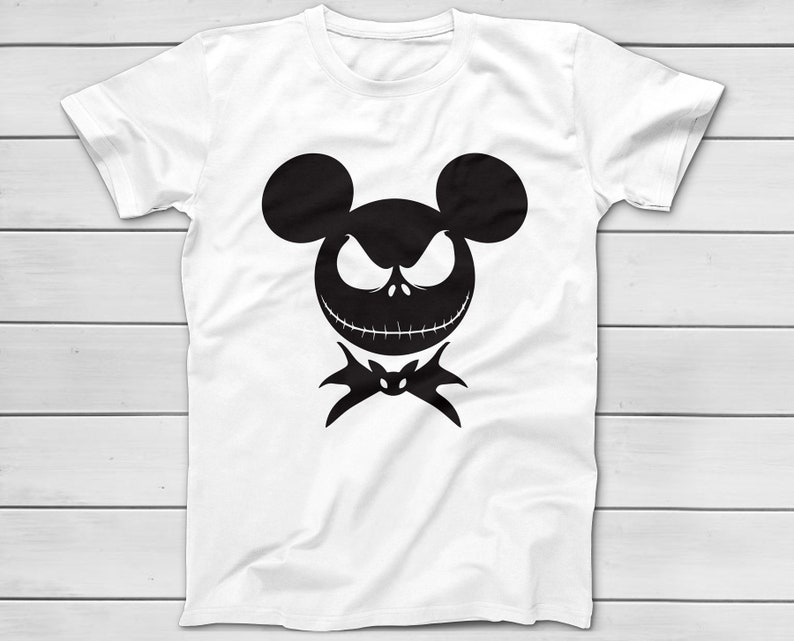 Halloween Jack Skellington Scary.Jack Skellington T Shirt For Mickey S Not So Scary Halloween Party Disney Group Shirts Halloween Costume T Shirts Mickey Minnie