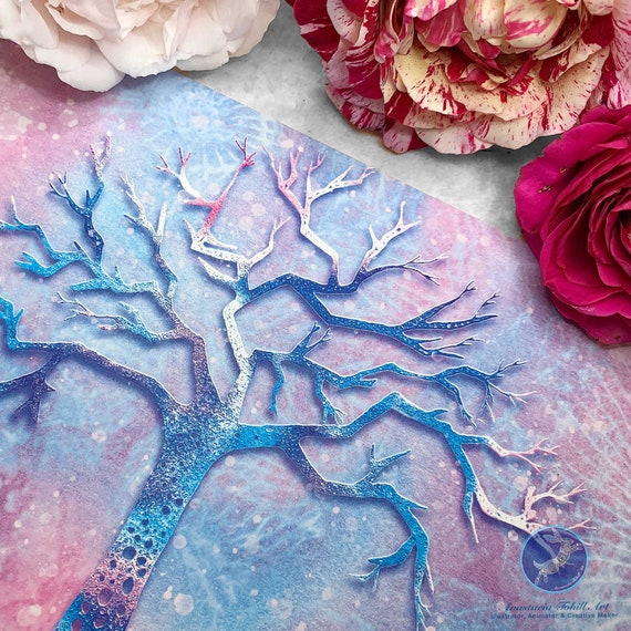 Tree card printed on luxury textured paper - Illustrated Greeting Card, Special Occasion Card, Blank Card