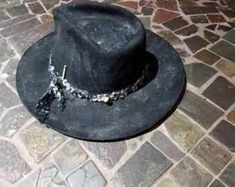 b59402fc3a45b Extreme distressed high quality beaver felt hat