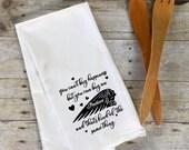 Flour Sack Tea Towel-Motorcycle
