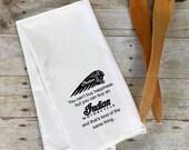 Flour Sack Tea Towel-Indian Motorcycle