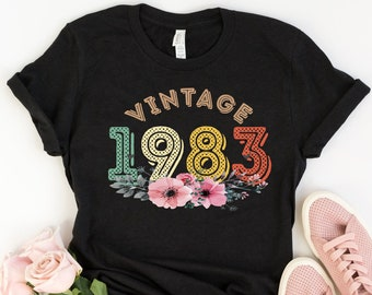 36th Birthday Gift For Women 36 Years Old Vintage 1983 Shirt Tshirt