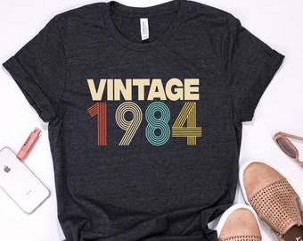 35th Birthday Gift For Women 35 Years Old Vintage 1984 Shirt Tshirt