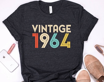 55th Birthday Gift For Women 55 Years Old Vintage 1964 Shirt Tshirt