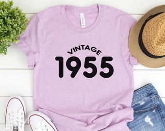 64th Birthday Gift For Women 64 Years Old Vintage 1955 Shirt Tshirt