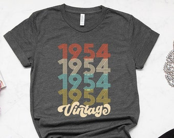 65th Birthday Gift For Women 65 Years Old Vintage 1954 Shirt Tshirt