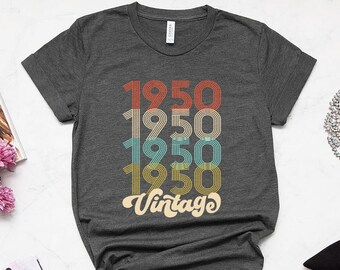 69th Birthday Gift For Women 69 Years Old Vintage 1950 Shirt Tshirt