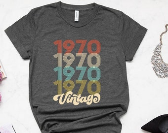 49th Birthday Gift For Women 49 Years Old Vintage 1970 Shirt Tshirt