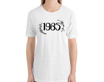 34th Birthday Gift For Women 34 Years Old Vintage 1985 Shirt Tshirt