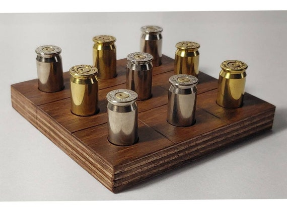 Tic Tac Toe Tabletop Game Bar Top Game Ammo Game 5th Etsy