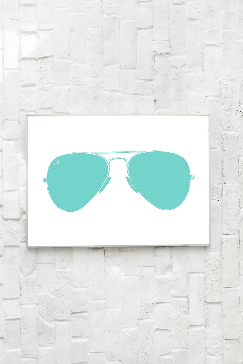 photograph relating to Printable Sunglasses named Printable Ray-Ban Wall Artwork - Printable Sungles Wall Artwork