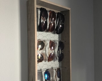 816f14de2b2da Rustic  Farmhouse style sunglass organizer   display