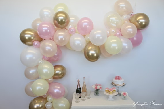 """12/"""" PEARL SHINE LATEX THEME PINK/&WHITE PARTY BALLOONS 20-50 PACK"""