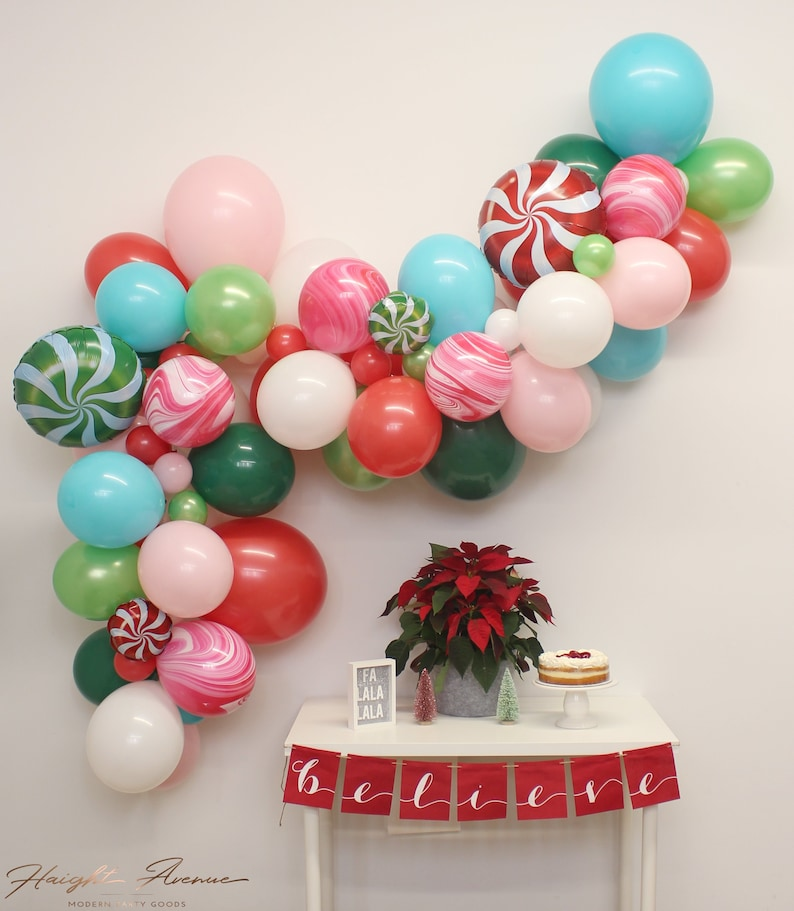Christmas Balloon Garland Featuring Candy Land Comes With Everything You Need To Create And Display