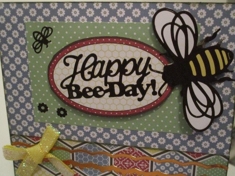 Girl Birthday Honeycomb Cute Birthday Card Female Birthday Handmade Birthday Card Bee Kids Birthday Friend Birthday