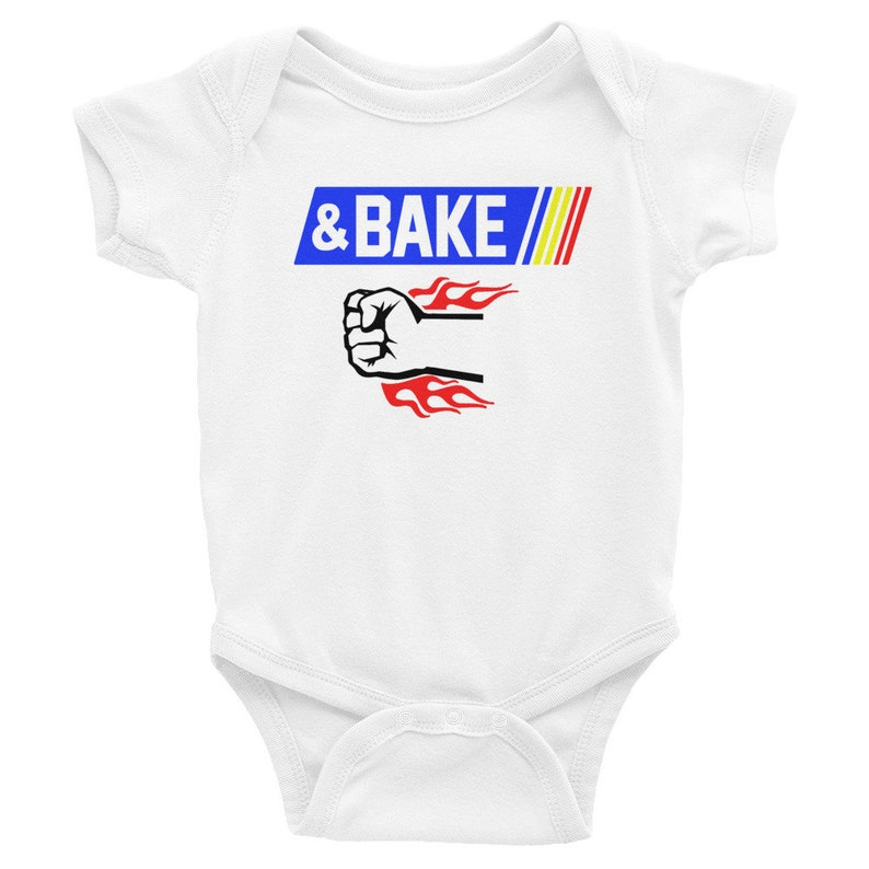 Baby Infant Bodysuit Shake and Bake Matching Father Son Daughter Race Car Design Bake