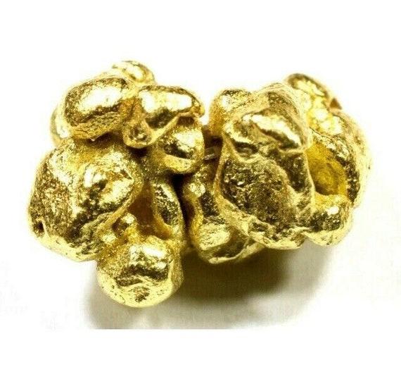 5 2 ML GLASS JAR W SCREW CAP FOR YOUR ALASKAN YUKON NATURAL PURE GOLD NUGGETS