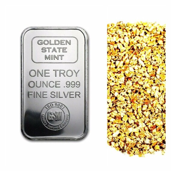 1 Troy Ounce 999 Fine Silver Bullion Gsm Iso Bar Bu 10 Etsy
