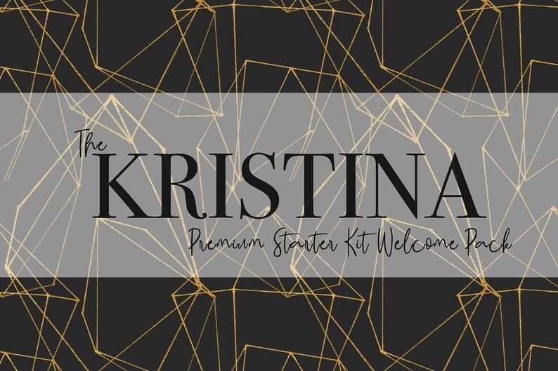 16da68b559ccb The 'Kristina' Premium Starter Kit Welcome Pack / USA, CAN, & AUS New  Member / Modern, Gemstone, Mint, Gold, Black, Geometric, Young Living