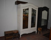 White Antique Cabinet Shabby chic wardrobe wardrobe-closet