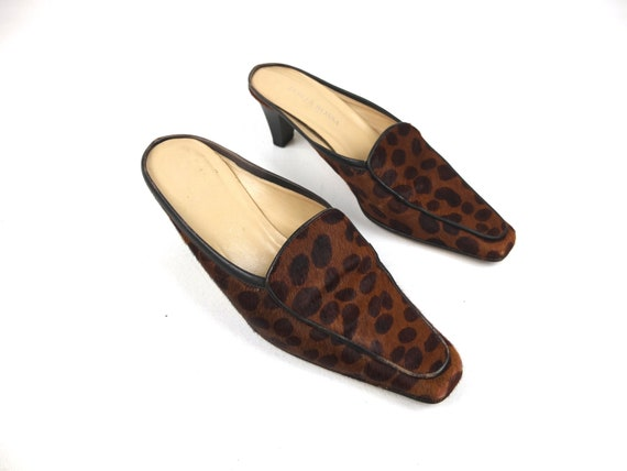 90s LEOPARD Print Italian Made MOHAIR Loafer Style