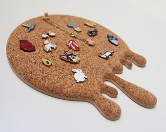 Dripping Honey Shaped Cork Board, Enamel Pin Display