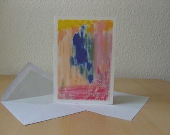 "Folding card ""going in joy"", folded card ""going in joy"""