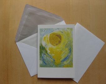 "Folded card ""fulfilment"" (of a vision)"