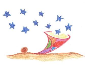 "5 postcards ""little star bag"", 5 postcards ""little starbag"""