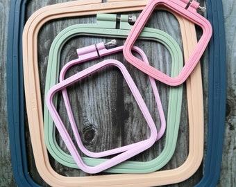 Plastic Embroidery Hoop,Cross Stitch Frame, Cross Stitch Hoop,Hoop Frame,Hoop for Hand Embroidery, Pink Hoop, Colourful Hoop,Display Hoop