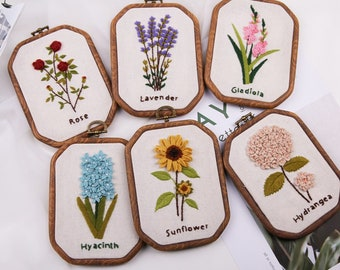 Hand Embroidery Kit Beginner,embroidery kit christmas,modern hand embroidery patterns, Hoop Art Embroidery Pattern Plant hand embroidery