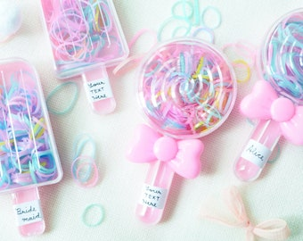 Candy land foe Inspired Candy elastic Candy hair ties Candy favors candy foe-5//8