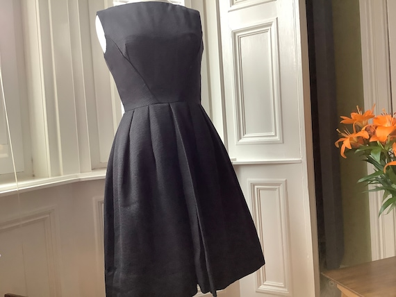 Black Late 1950s Evening Dress