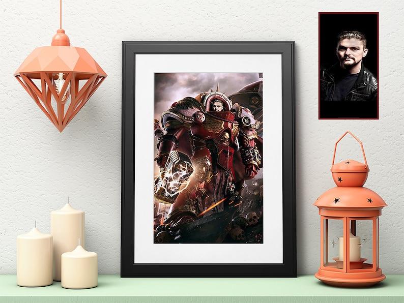 warhammer 40k posters,warhammer 40k posters art,portrait from photo,personalized family art,custom portrait,birthday gift for boyfriend W122