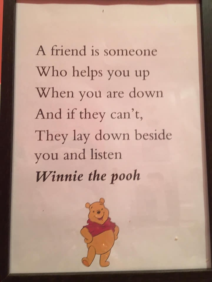 a4 winnie the pooh quote frame  etsy