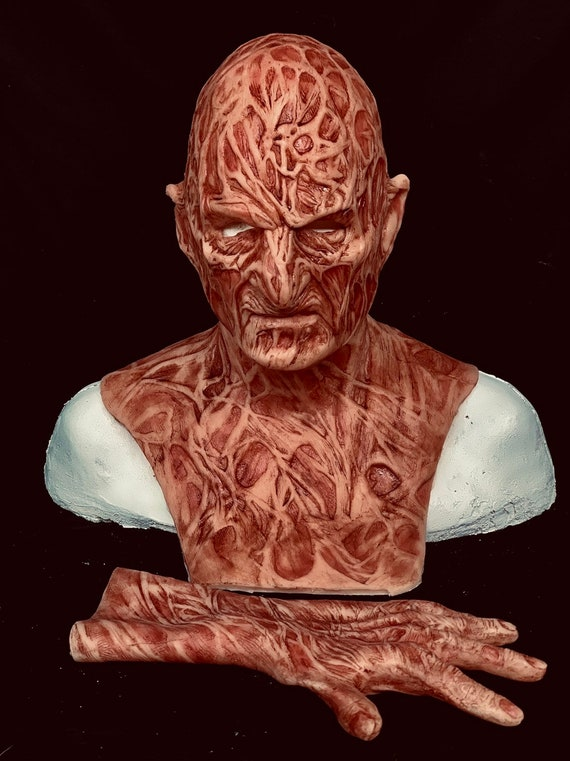 2 pc combo Deal! Inferno Pt.4 2.0 Krueger silicone Freddy mask & Hand by WFX