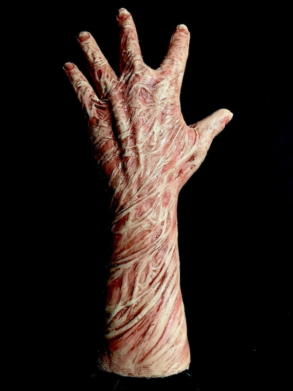 Freddy Inferno Krueger Silicone Burned Left hand by WFX