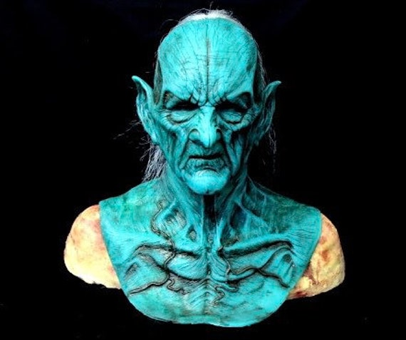 Green Malum Demon silicone mask by WFX