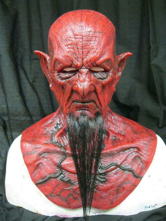 Red Malum Demon silicone mask by WFX