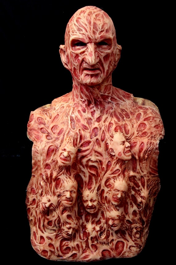 Freddy Inferno Part 4 Krueger Silicone Mask and Chest Of Souls by WFX