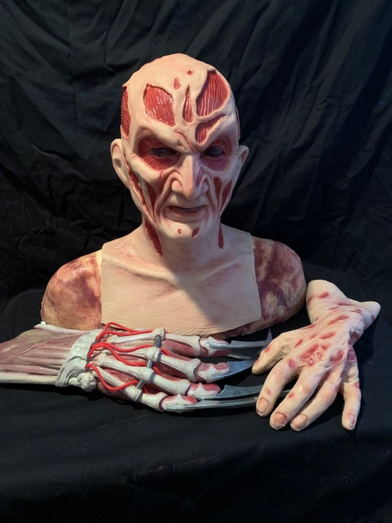 Freddy New Nightmare Krueger 3 Pc. Combo Silicone Mask & and gloves by WFX