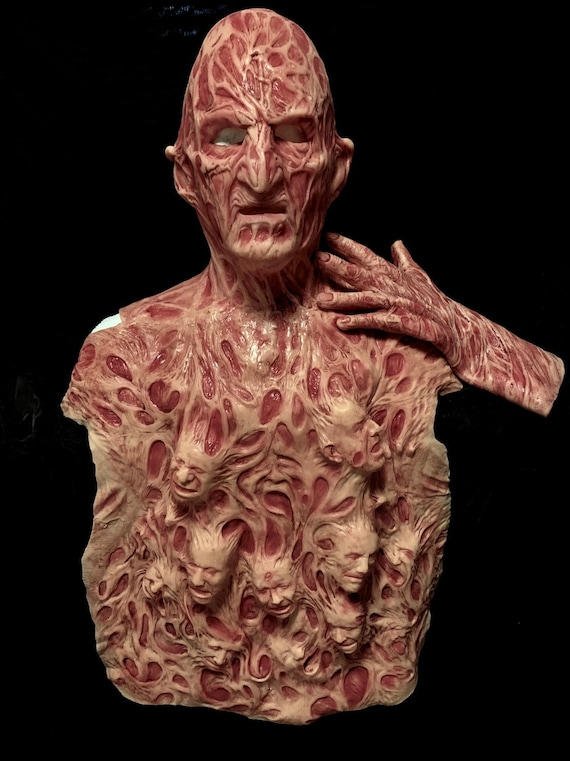 3 pc Freddy Inferno Part 4, 2.0 Krueger Silicone Mask, Chest Of Souls and hand by WFX