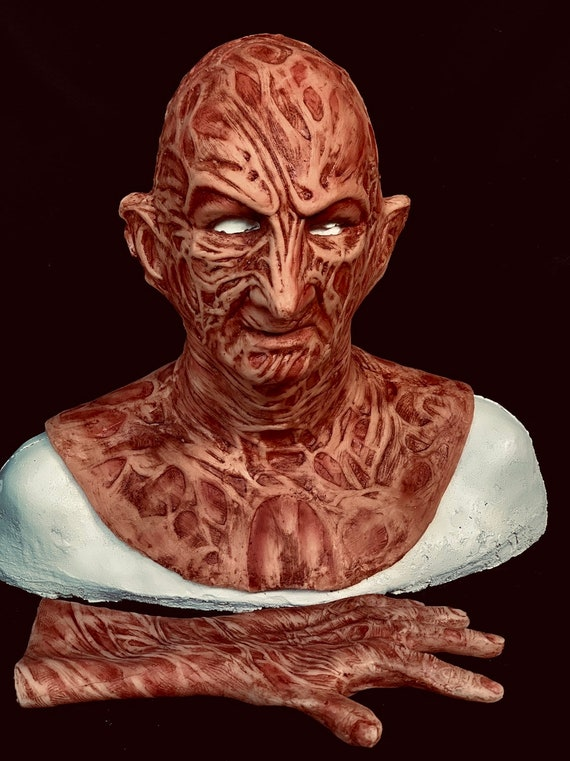 2 Pc. Combo Deal! Freddy Inferno Krueger VS Silicone Mask & Hand by WFX