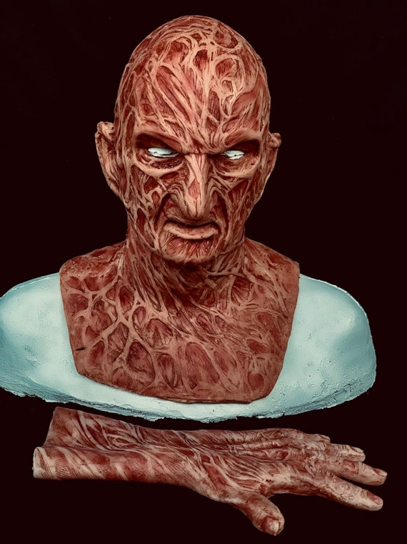 2 Pc. Combo Deal! Freddy Inferno Part 4 Krueger Silicone Mask & Hand by WFX