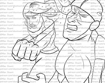 taking back christmas turbo man coloring page for adults instant download and print