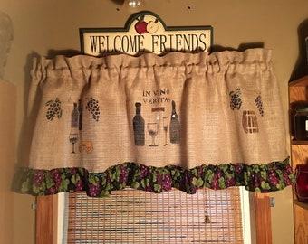 Wine Curtains Etsy
