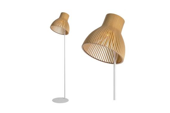 Modern Wood Floor Lamp Tripod Floor Lamp Industrial Lamp Handmade Lamp Floor Light Wooden Lamp Wood Light Lightov Design