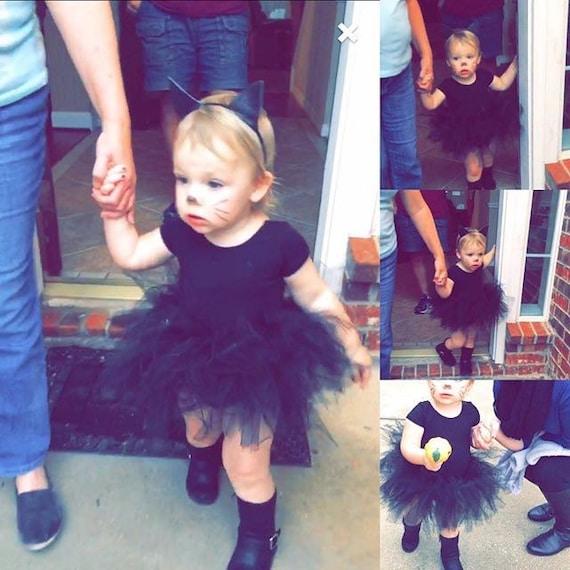 FREE SHIPPING Baby Toddler Black Tutu perfect Halloween Costume Tutu for Baby or Toddler. High Quality Sewn Tutu
